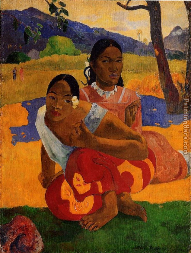 When Will You Marry painting - Paul Gauguin When Will You Marry art painting