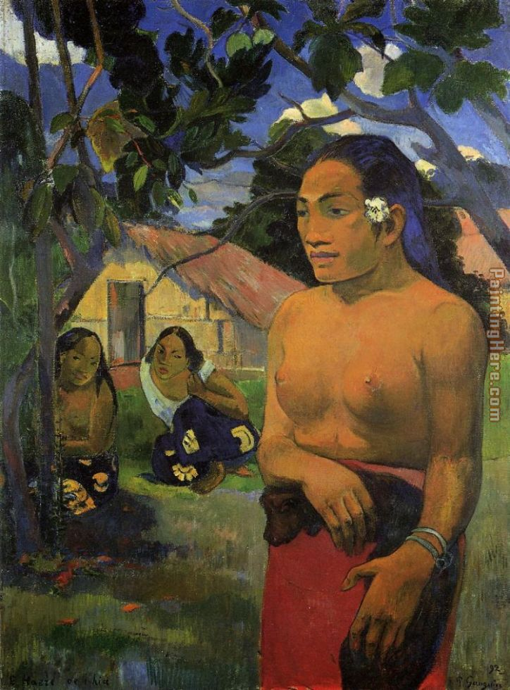 Where Are You Going 2 painting - Paul Gauguin Where Are You Going 2 art painting