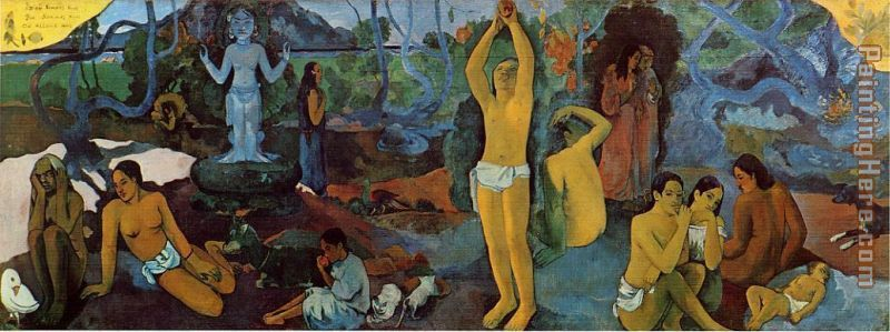 Where Do We Come From painting - Paul Gauguin Where Do We Come From art painting
