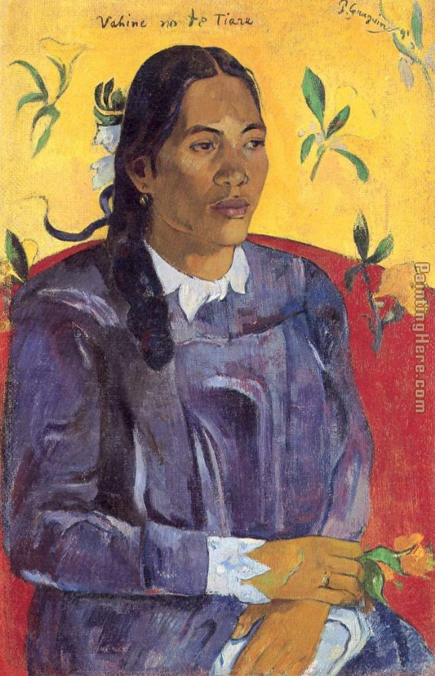 Paul Gauguin Woman with a Flower Art Painting
