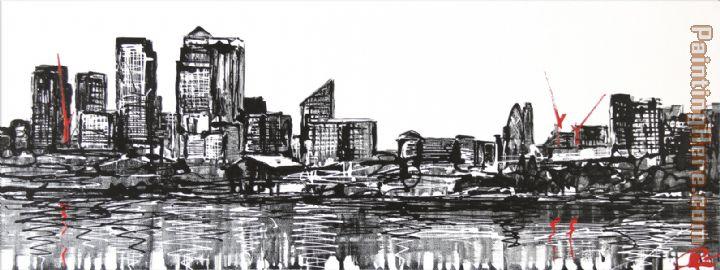 Paul Kenton London Progress Painting Anysize 50 Off London