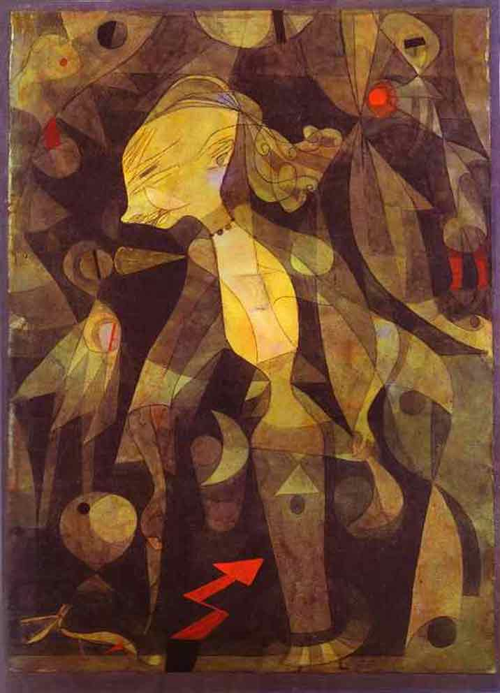 Paul Klee A Young Lady's Adventure Art Painting