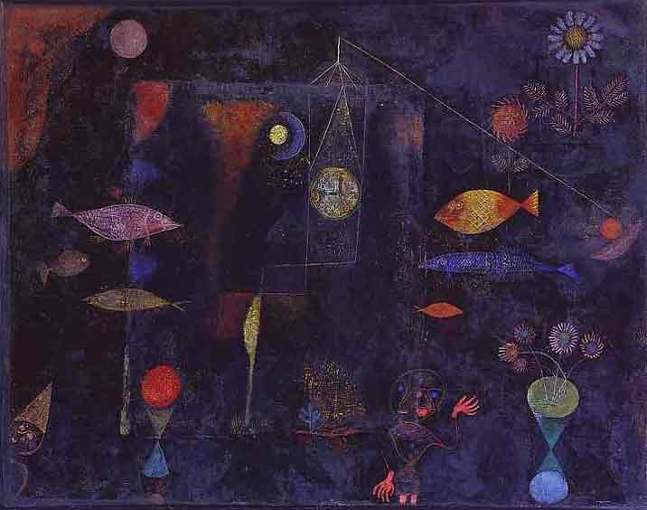 Fish Magic painting - Paul Klee Fish Magic art painting