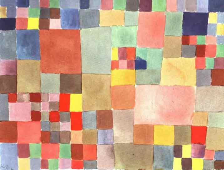 Flora on Sand painting - Paul Klee Flora on Sand art painting