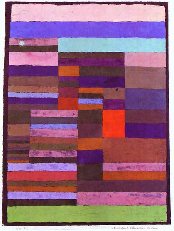 Paul Klee Individualized Altimetry of Stripes Art Painting