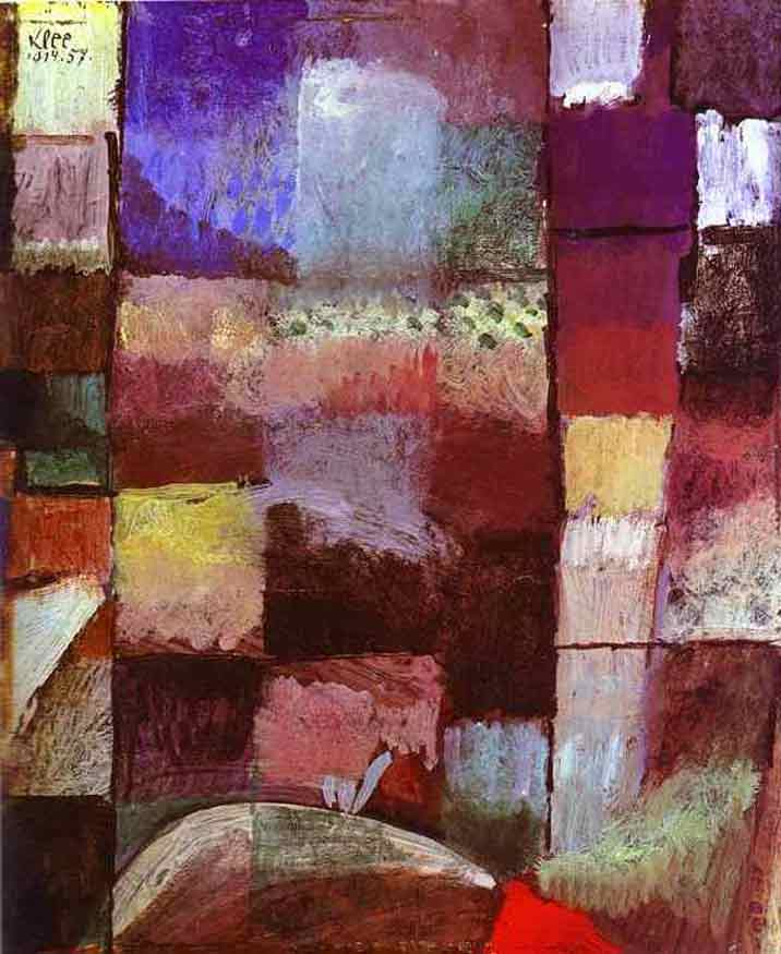 On a Motif from Hamamet painting - Paul Klee On a Motif from Hamamet art painting