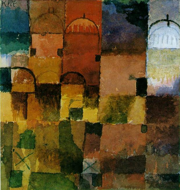 Red And White Domes painting - Paul Klee Red And White Domes art painting