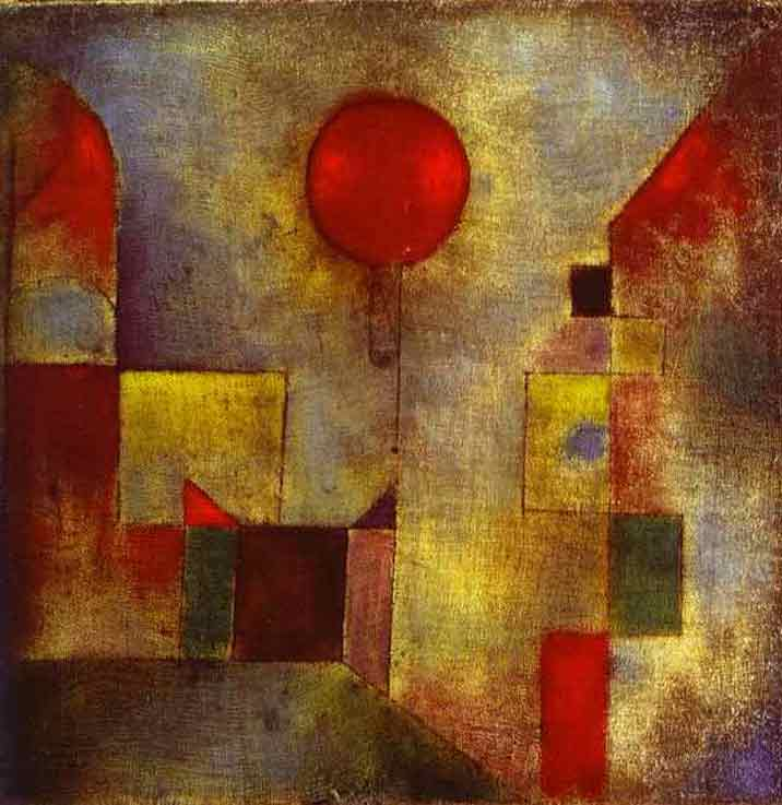 Red Ballon painting - Paul Klee Red Ballon art painting