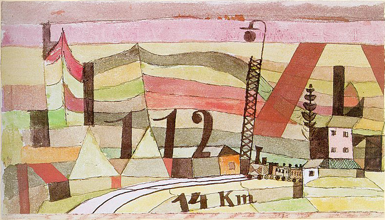 Station L 112 painting - Paul Klee Station L 112 art painting