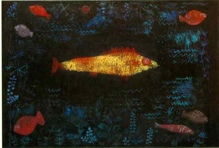 Paul Klee The Golden Fish Art Painting