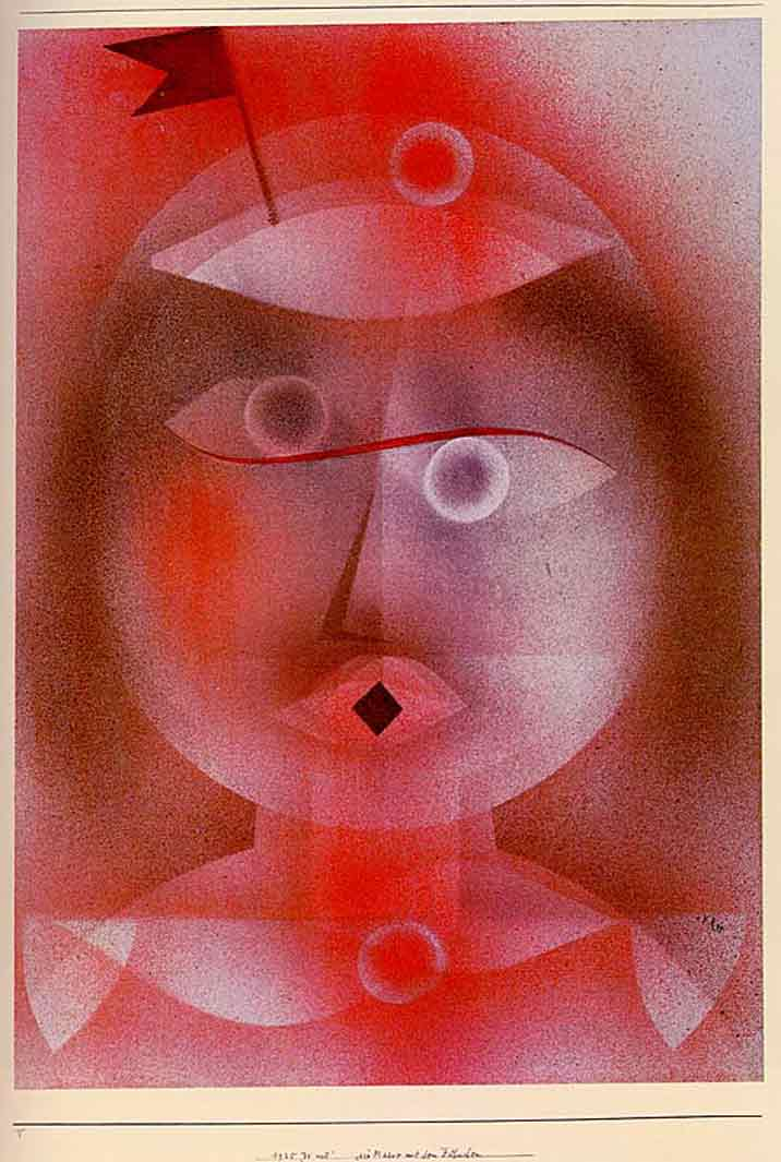 The Mask with the Little Flag painting - Paul Klee The Mask with the Little Flag art painting
