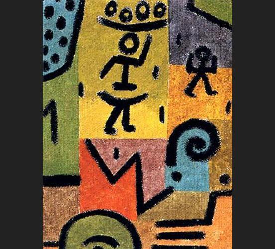 Zitronen painting - Paul Klee Zitronen art painting