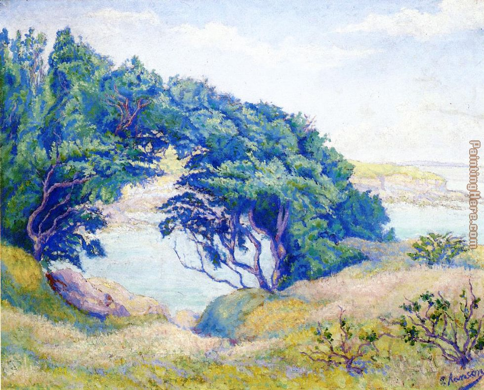 By the Sea, Brittany painting - Paul Ranson By the Sea, Brittany art painting