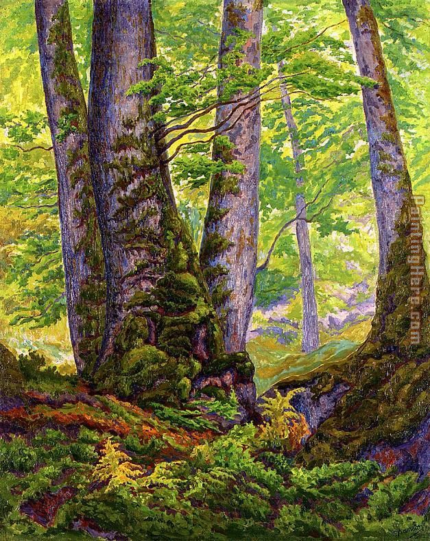 Three Beeches painting - Paul Ranson Three Beeches art painting