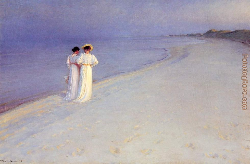 Peder Severin Kroyer Tade de verano en la playa Art Painting
