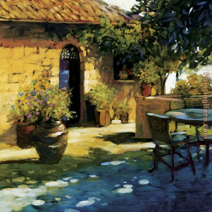 Philip Craig Courtyard Retreat Art Painting