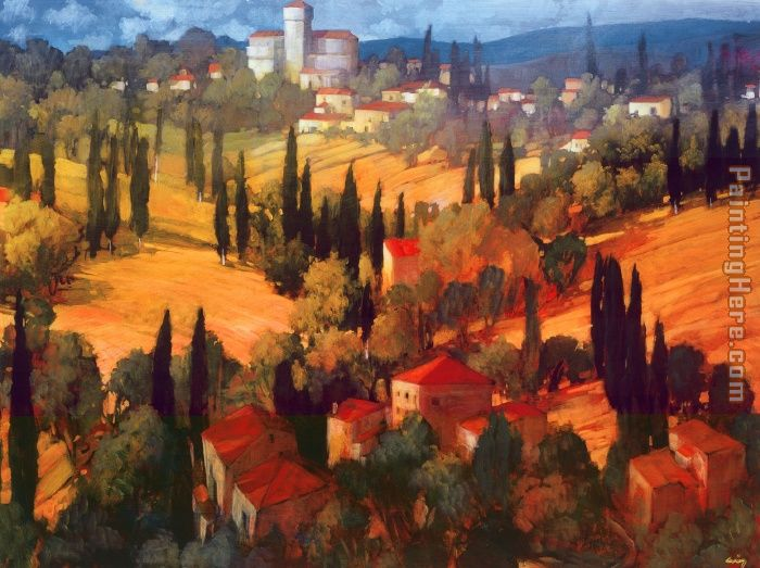 Tuscan Castle painting - Philip Craig Tuscan Castle art painting