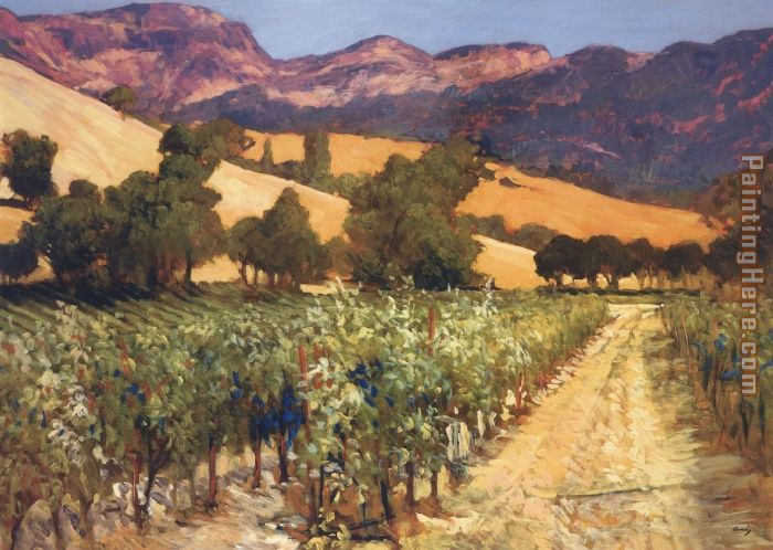 Wine Country painting - Philip Craig Wine Country art painting