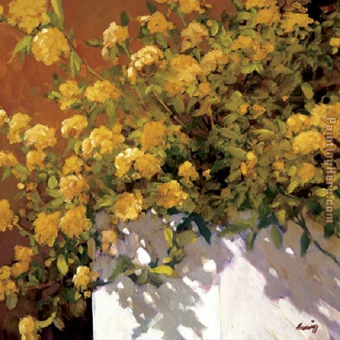 Yellow Geraniums painting - Philip Craig Yellow Geraniums art painting