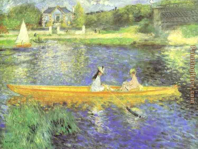Banks of the Seine at Asnieres painting - Pierre Auguste Renoir Banks of the Seine at Asnieres art painting