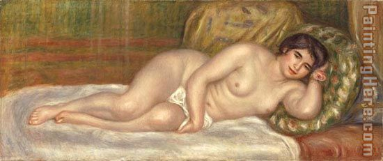 Femme nue couchee painting - Pierre Auguste Renoir Femme nue couchee art painting