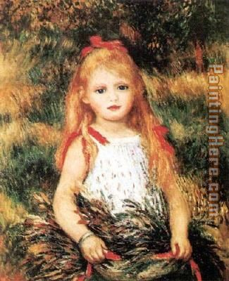 Pierre Auguste Renoir Girl With Sheaf Of Corn Art Painting