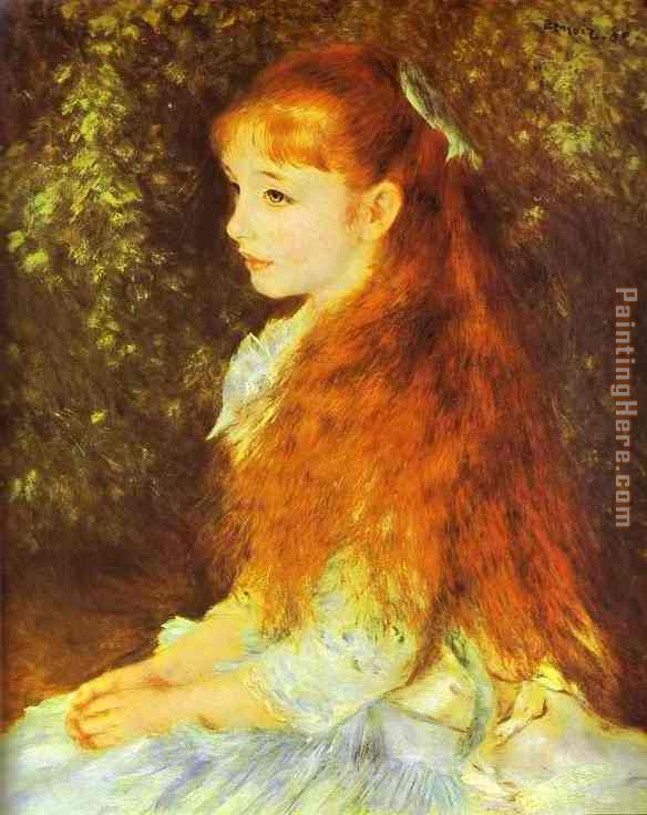 Mlle. Irene Cahen d'Anvers painting - Pierre Auguste Renoir Mlle. Irene Cahen d'Anvers art painting