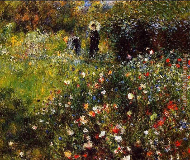 Pierre Auguste Renoir Summer Landscape Aka Woman With A Parasol In A Garden Art Painting