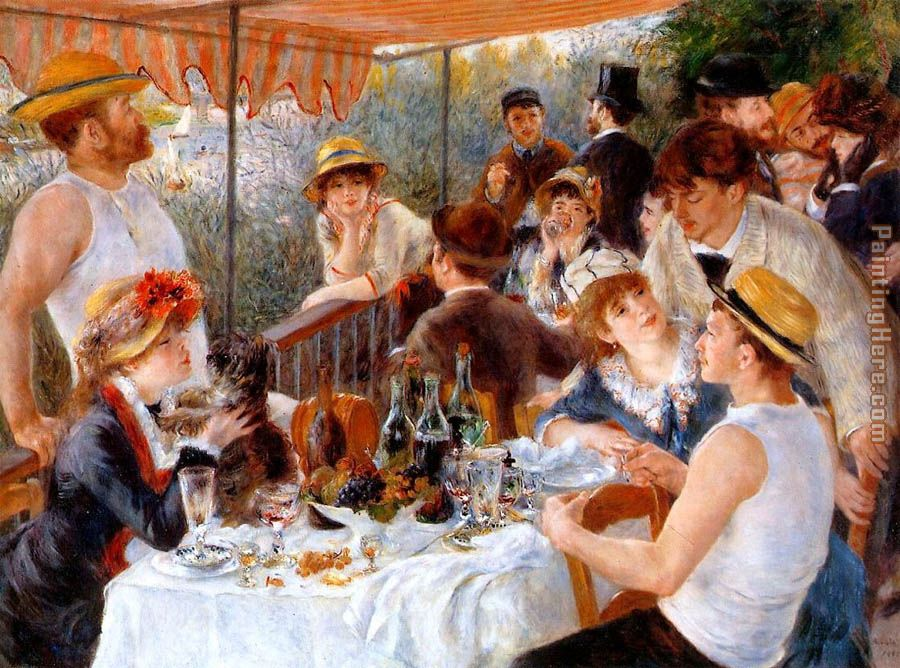 The Boating Party Lunch I painting - Pierre Auguste Renoir The Boating Party Lunch I art painting