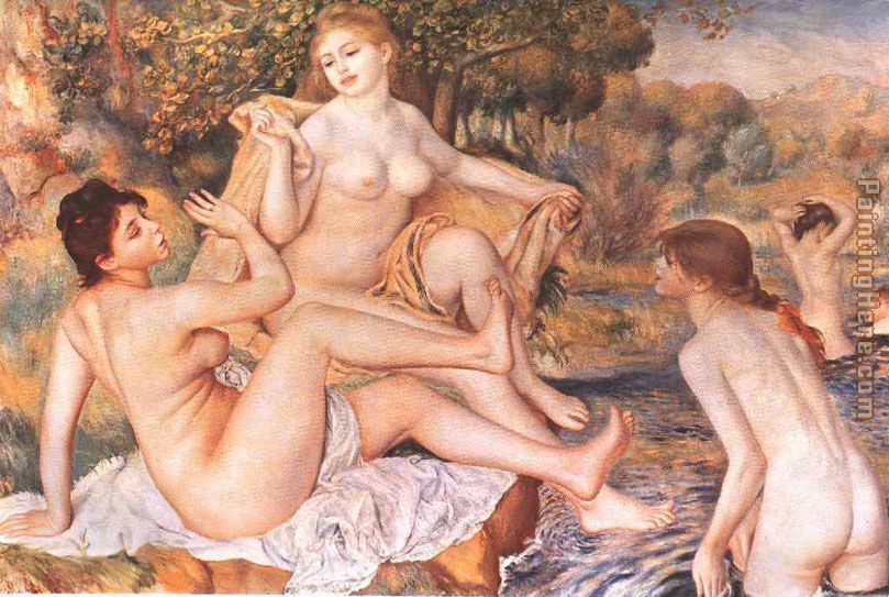 The Large Bathers I painting - Pierre Auguste Renoir The Large Bathers I art painting