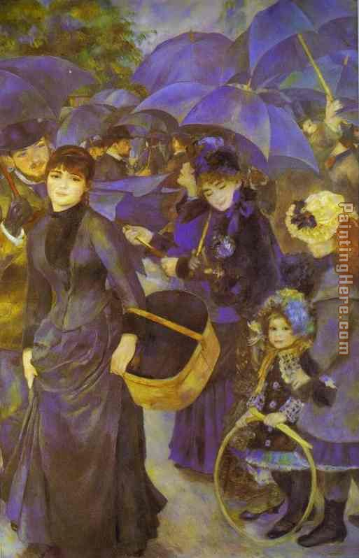 The Umbrellas painting - Pierre Auguste Renoir The Umbrellas art painting