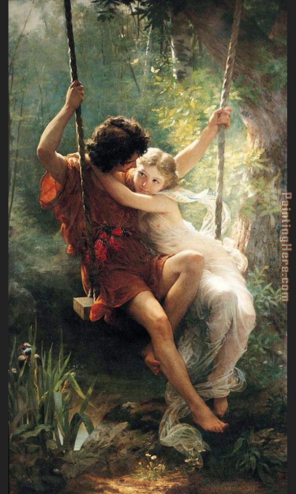 spring painting - Pierre-Auguste Cot spring art painting