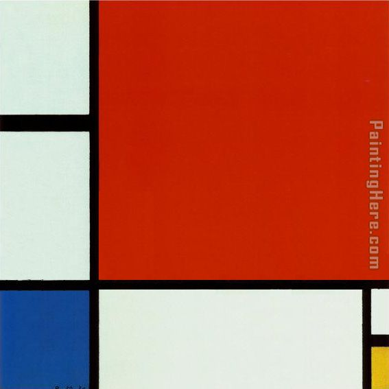 Composition with Red Blue Yellow 2 painting - Piet Mondrian Composition with Red Blue Yellow 2 art painting
