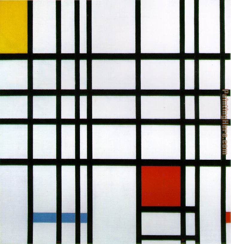 Composition with Yellow Blue and Red painting - Piet Mondrian Composition with Yellow Blue and Red art painting