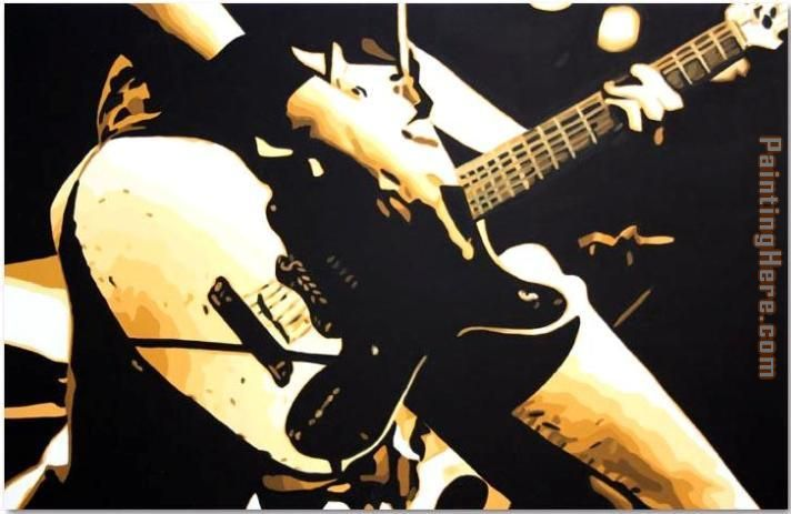 guitar painting - Pop art guitar art painting