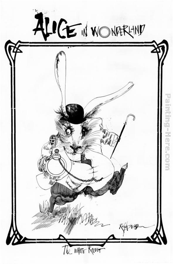 Alice in Wonderland painting - Ralph Steadman Art Alice in Wonderland art painting