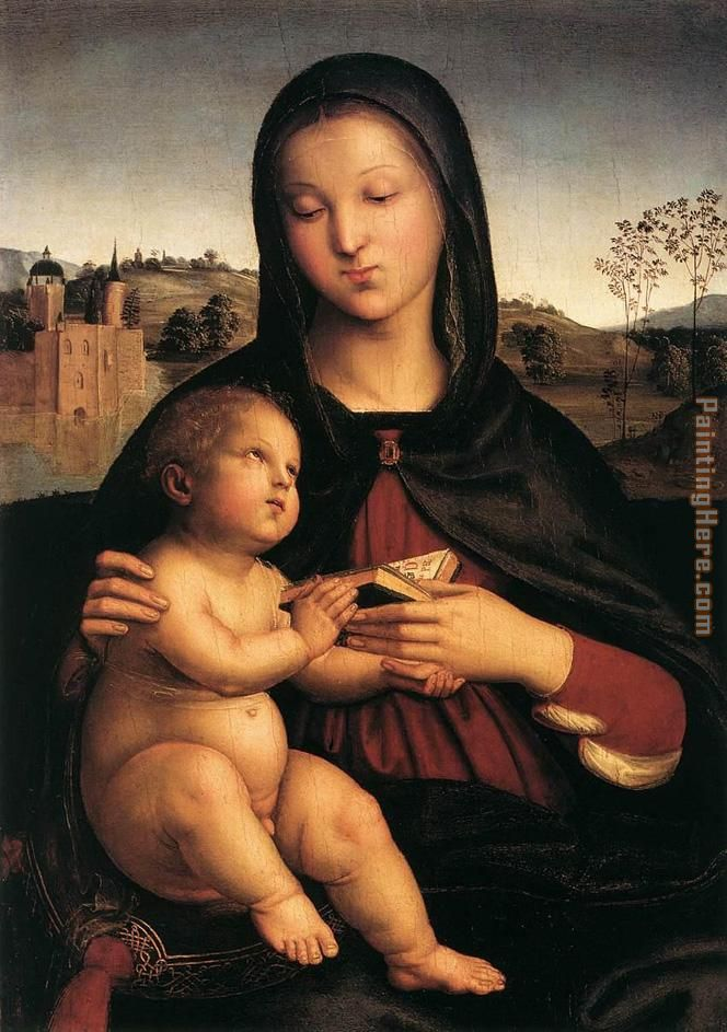 Madonna and Child with Book painting - Raphael Madonna and Child with Book art painting