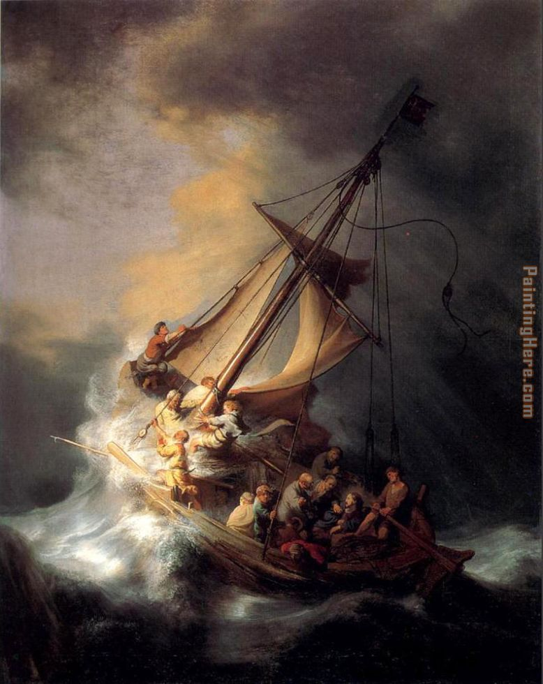 Christ In The Storm painting - Rembrandt Christ In The Storm art painting