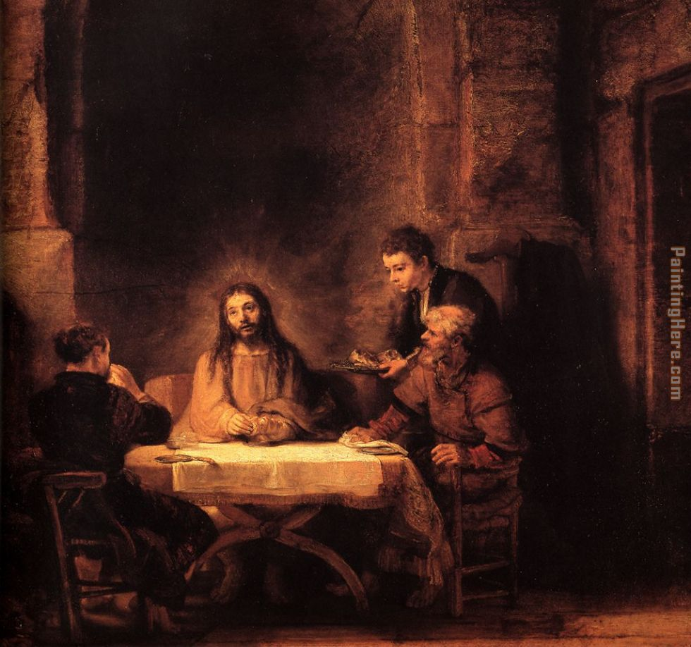 Supper at Emmaus painting - Rembrandt Supper at Emmaus art painting
