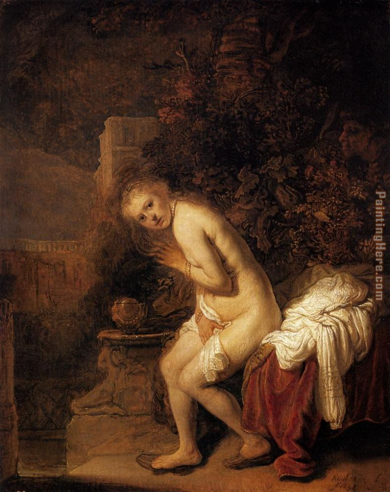 Susanna and the Elders painting - Rembrandt Susanna and the Elders art painting