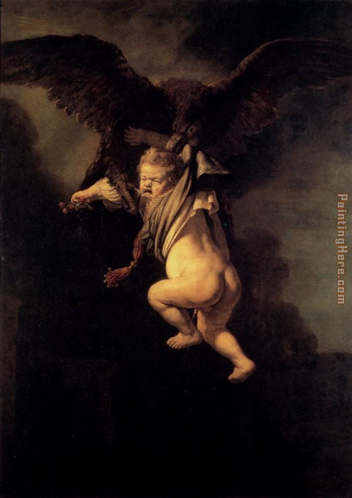 The Abduction Of Ganymede painting - Rembrandt The Abduction Of Ganymede art painting