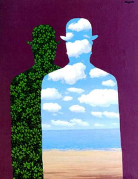 High Society painting - Rene Magritte High Society art painting