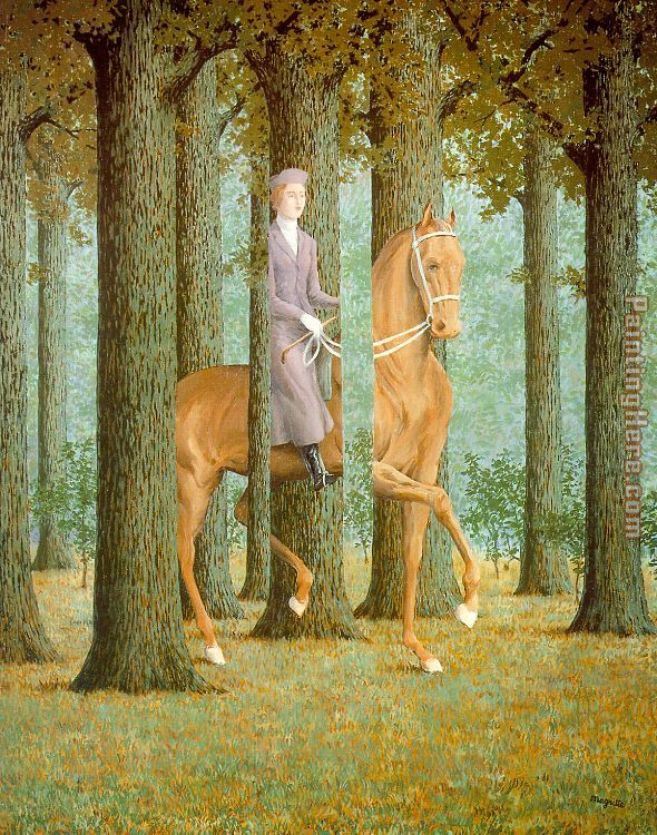 The Blank Check painting - Rene Magritte The Blank Check art painting