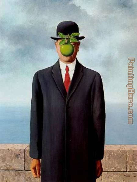 The Son of Man painting - Rene Magritte The Son of Man art painting