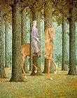 The Blank Check by Rene Magritte