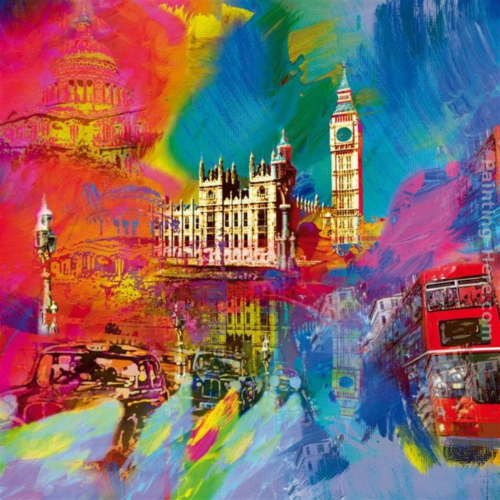London painting - Robert Holzach London art painting