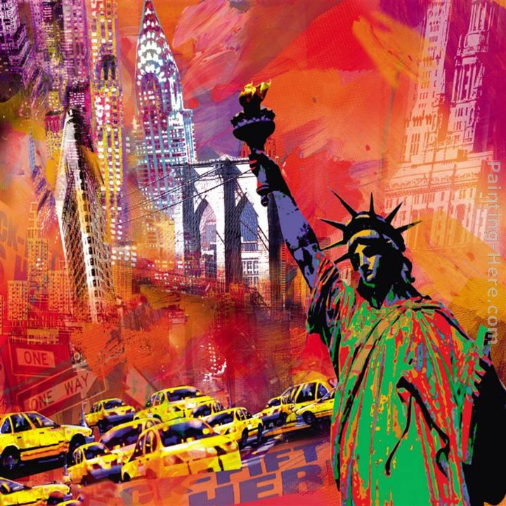 New York painting - Robert Holzach New York art painting