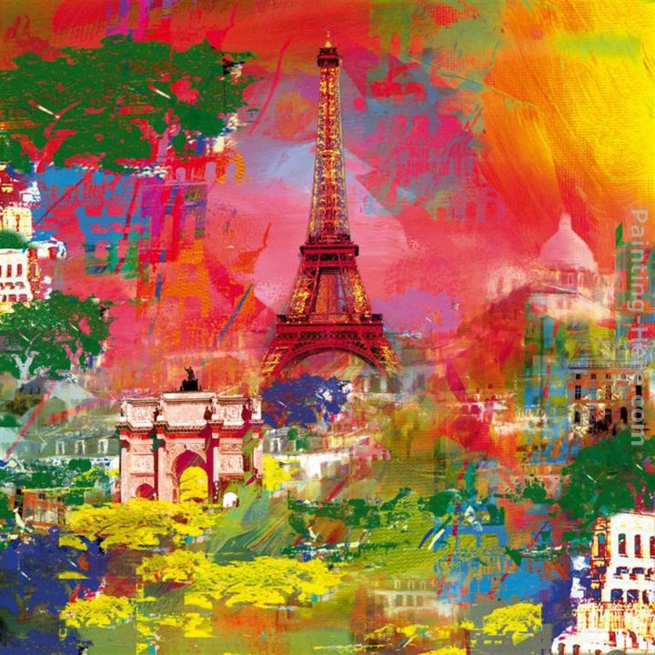 Paris painting - Robert Holzach Paris art painting