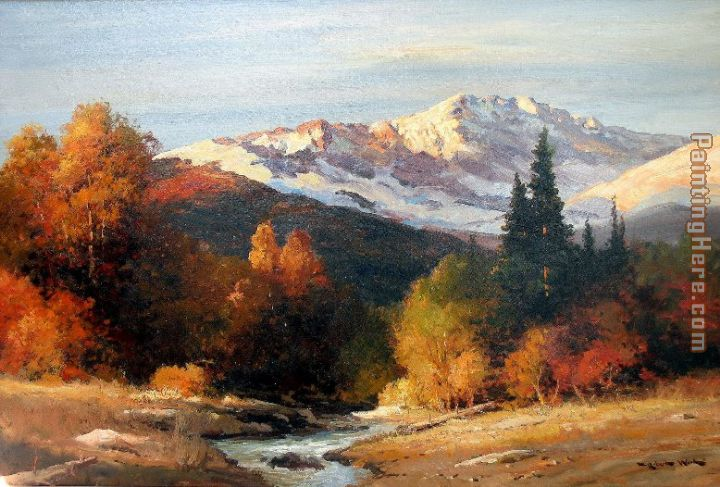Sunrise in the High Sierra painting - Robert Wood Sunrise in the High Sierra art painting
