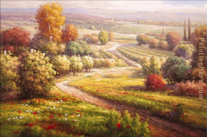 Roberto Lombardi Vineyard View Ii Painting Anysize 50 Off